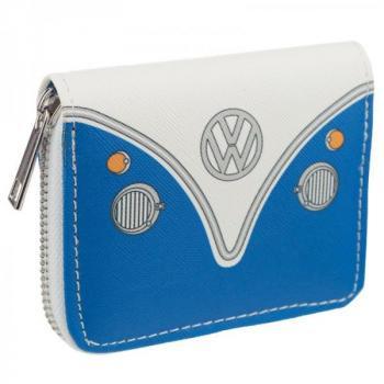 VW Bus T1 Geldbörse/ Geldbeutel blau mit Reißverschluss Volkswagen Wohnmobil
