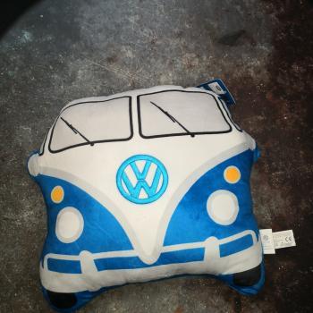 VW Bus T1 geformtes blaues Kissen Plüsch Volkswagen Wohnmobil