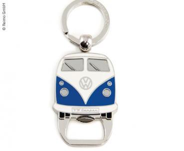 Schlüsselanhänger mit Flaschenöffner, blau VW Collection