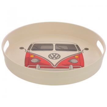 T1 rotes rundes Bambus-Verbundsstoff Tablett Volkswagen Wohnmobil VW Bus