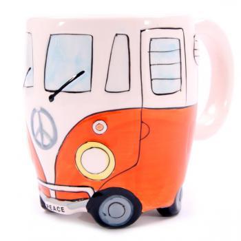 Wohnmobil Tasse für Busfahrer orange
