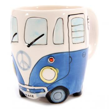Wohnmobil Tasse für Busfahrer blau