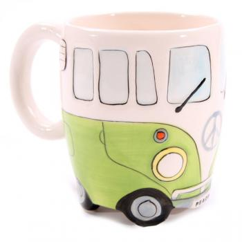 Wohnmobil Tasse für Busfahrer grün