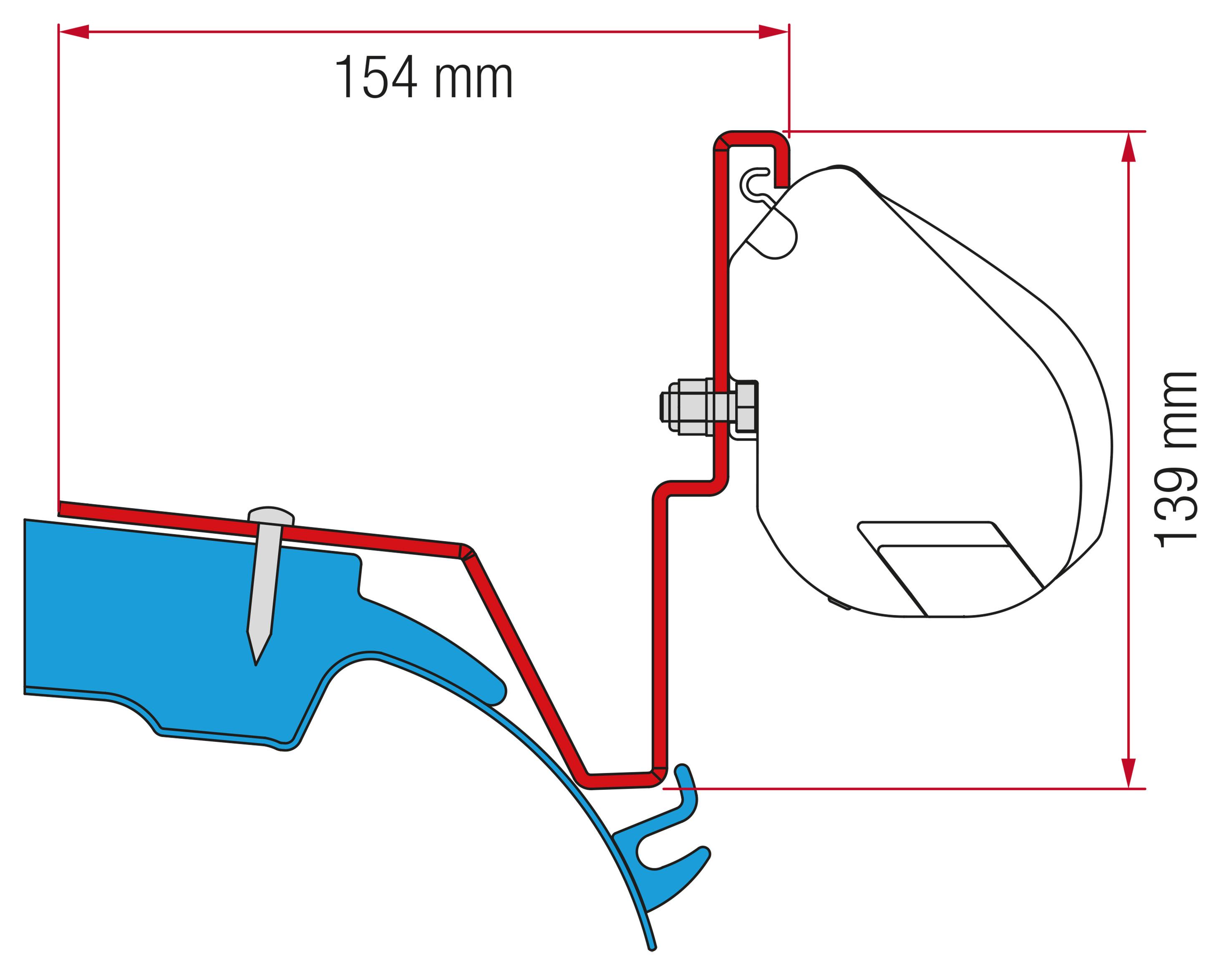 fiamma adapter f35 kit mercedes vito jules verne 98655z034. Black Bedroom Furniture Sets. Home Design Ideas