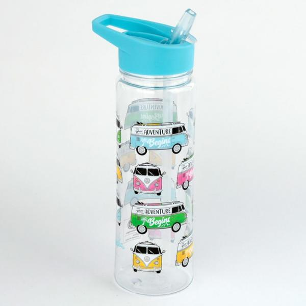 Bruchsichere Trinkflasche/ Wasserflasche 500 ml - VW Bus T1 Surf Adventure Begins